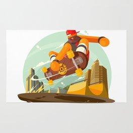 Skateboarding pleasure Rug