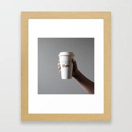Coffee To Go Framed Art Print
