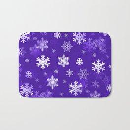 Light Purple Snowflakes Bath Mat