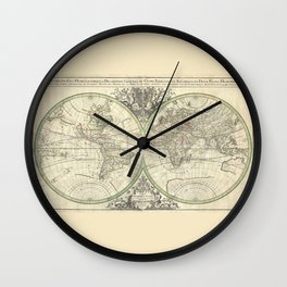 Antique Map from 1691, Sanson Wall Clock