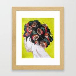 Ann's Hair Fashion Framed Art Print