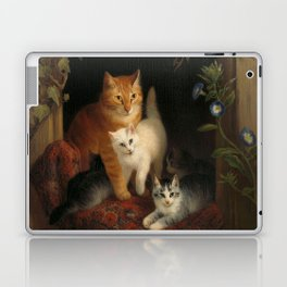 Cat with Kittens, Henriëtte Ronner, 1844 Laptop & iPad Skin