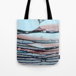 Abstract Blue & Red Lines Tote Bag