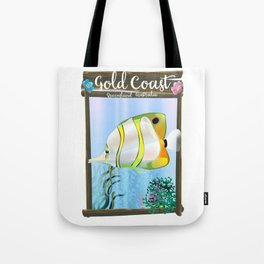 Gold Coast Australia travel poster Tote Bag