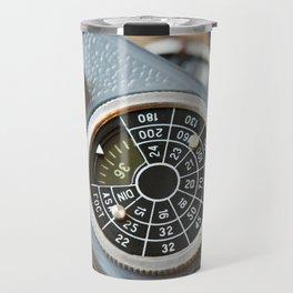 Wheel to set control sensitivity retro camera Travel Mug