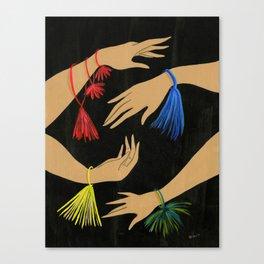 Tasseled Hands Canvas Print