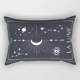 The Moon or La Lune Tarot Rectangular Pillow