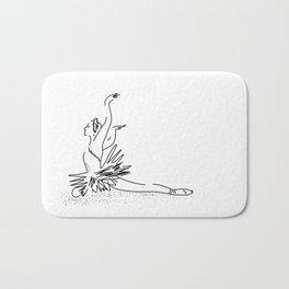 white swan.  Dance (  https://society6.com/vickonskey/collection ) Bath Mat