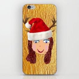 Gold Christmas | Kids Painting | Christmas Spirit iPhone Skin