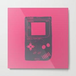 Game Boy on pink Metal Print