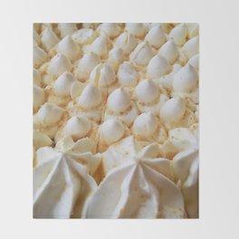 whipped cream mountain range Throw Blanket