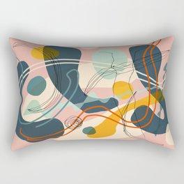 abstract and woman Rectangular Pillow