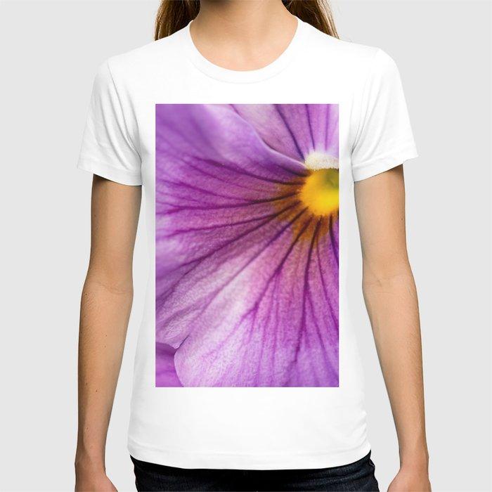 Purple Pansy Flower Close-up #decor #society6 #buyart T-shirt