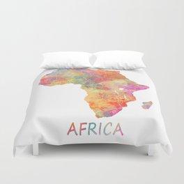 Africa map 2 Duvet Cover