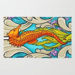 Art Nouveau Seahorse Rug