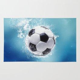 Soccer Water Splash Rug