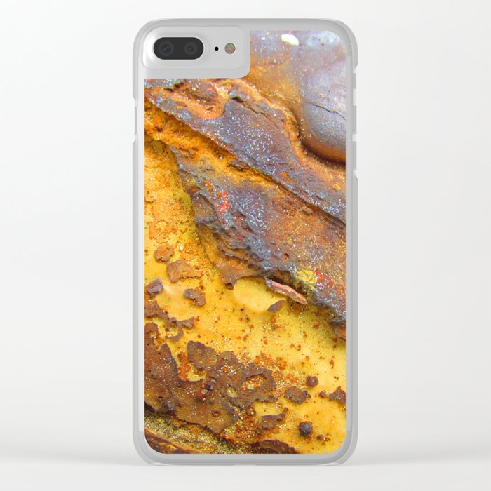 Rusted Clear iPhone Case