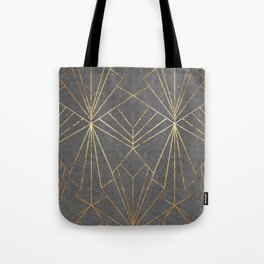 Art Deco in Gold & Grey - Large Scale Tote Bag