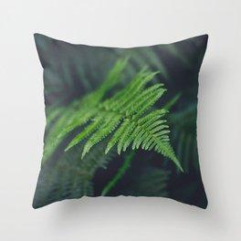 fairy fern Throw Pillow