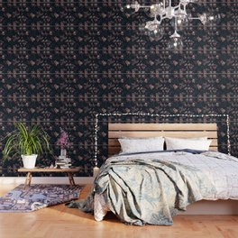 Japanese Boho Floral Wallpaper