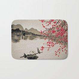 Japan Crane Fishing Bath Mat