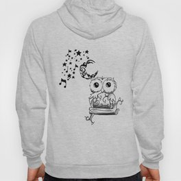 Intricate Owl at Musical Midnight Hoody