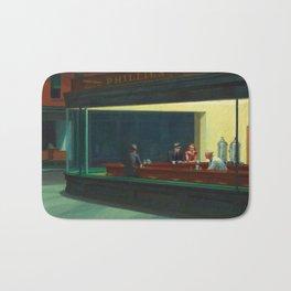 Nighthawks by Edward Hopper Bath Mat