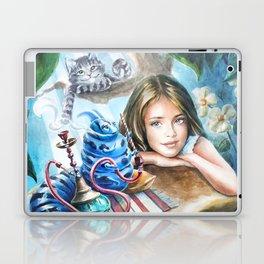 Alice and blue caterpillar Laptop & iPad Skin