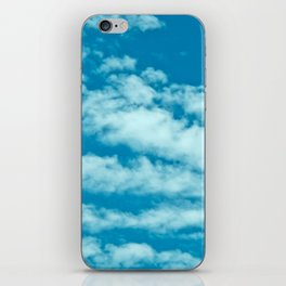 Beautiful blue sky and fluffy clouds iPhone Skin