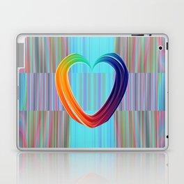 Fractal Art- Pattern Art- Heart Art- Blue Hearts-Pixxie Stixx- LGBT Art- Love- Healing Energy Art Laptop & iPad Skin