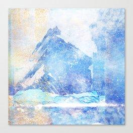 Blue Ice Mountains :: Fine Art Collage Canvas Print