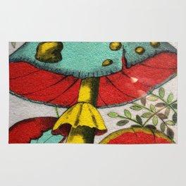 Snail and mushrooms Rug