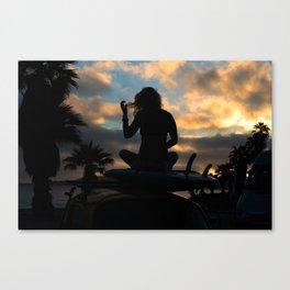 SUP Sunset Canvas Print