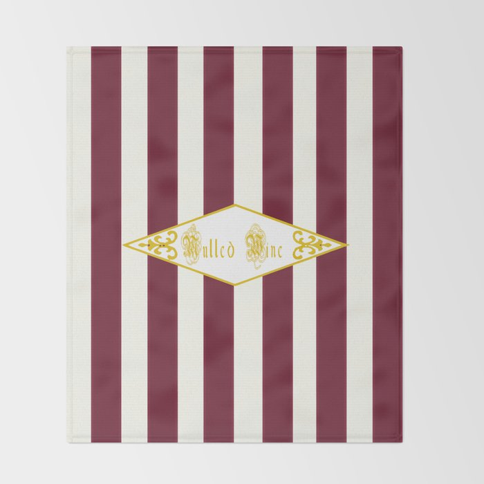 Mulled Wine Antique Throw Blanket