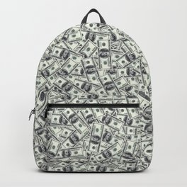 Giant money background 100 dollar bills / 3D render of thousands of 100 dollar bills Backpack