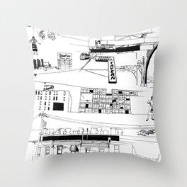 North Philadelphia Throw Pillow