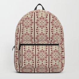 Mediterranean Vintage Pink Tiles Backpack