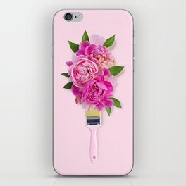 Peonies on Pink iPhone Skin