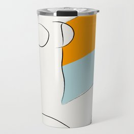 Matisse Minimal Art, Matisse Art Print, Mid Century Wall Art, Woman Minimal Sketch, Modern Art Travel Mug