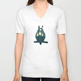 Totoro ' s Dream  Unisex V-Neck