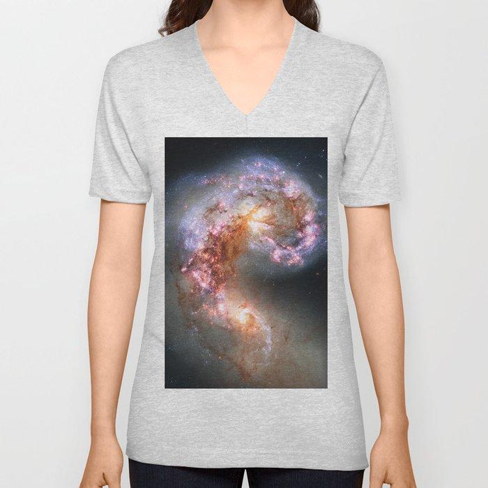 Antennae Galaxies Unisex V-Neck