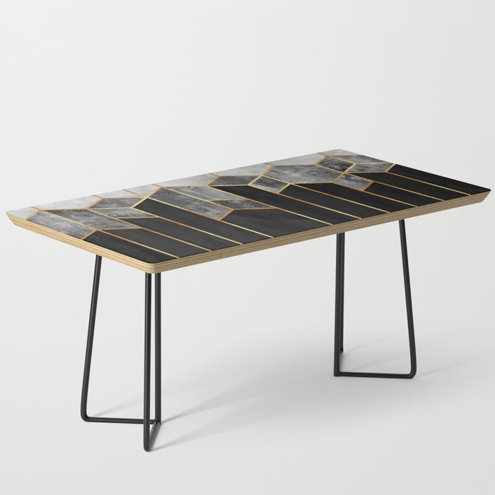 Charcoal Hexagons Coffee Table