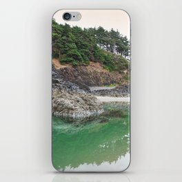 Oregon Coast Tide Pool Green Glowing Forest Coastal Cliff Rocky Landscape Beach Northwest Volcano iPhone Skin