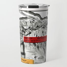 Dead-Pool goin' back in time & reality 3D Travel Mug