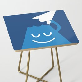 A Friendly Mountain Greeting Side Table