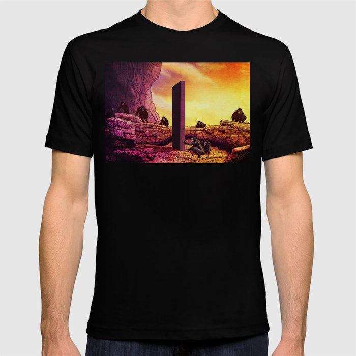 Ape Men meet Monolith - 2001 A Space Odyssey T-shirt