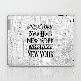 New York City black and white New York poster I love heart NYC Design black-white home wall decor Laptop & iPad Skin