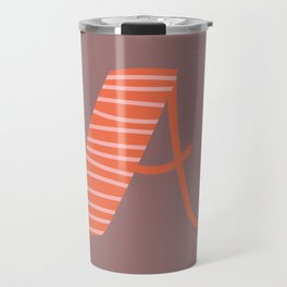 Letter A Monogram Art Print Travel Mug