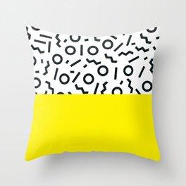 Memphis pattern 46 Throw Pillow