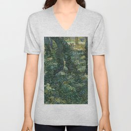 "Vincent Van Gogh ""Trees and undergrowth"" Unisex V-Neck"